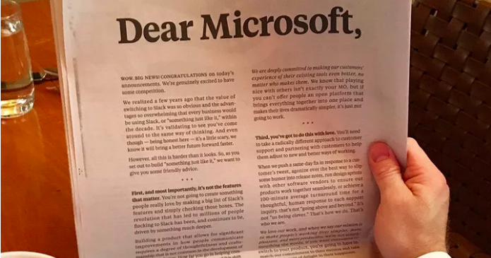 Slack to Microsoft: How earned media could have worked better than an ad
